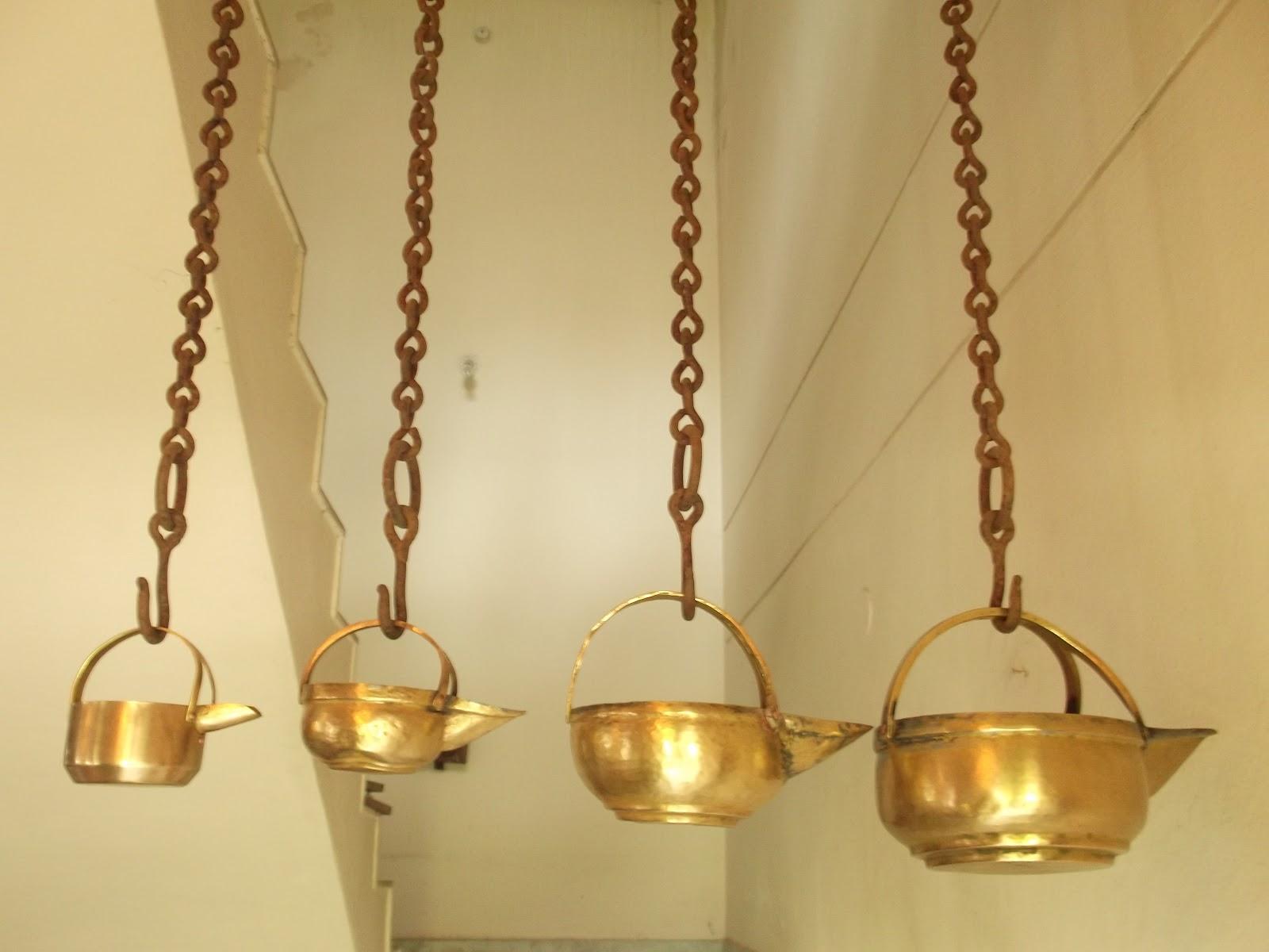 Antique Brass Serving Pots