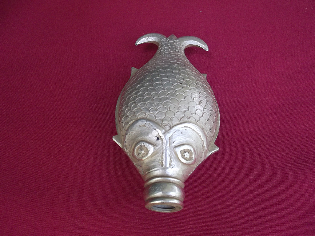 Fish shaped Bharani shown with fish mouth opened