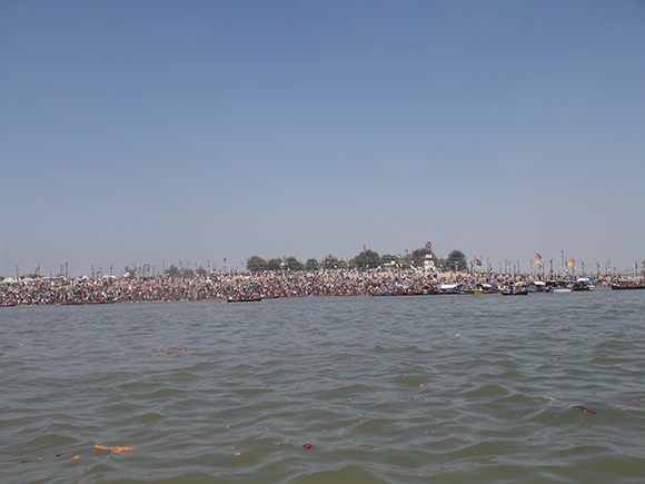 Millions taking bath from Sangam banks