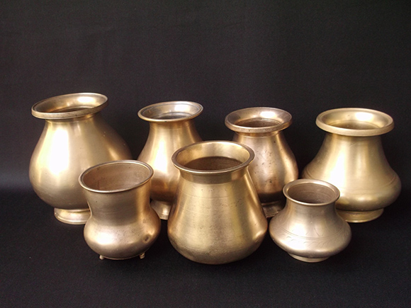 Antique Brass Drinking Pots