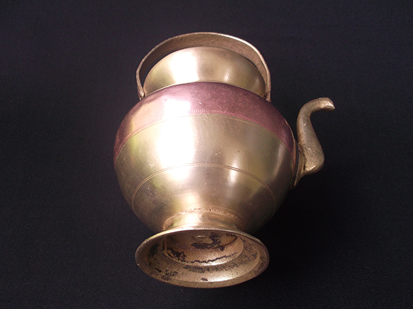 Bottom view of Antique Brass and Copper Kamandalam.