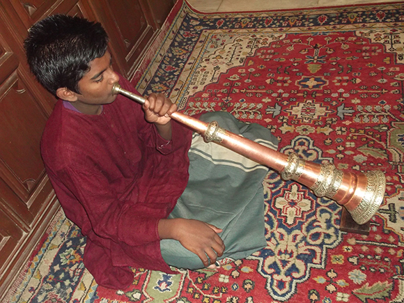 Copper and silver Tibetan Buddhist Prayer  Trumpet