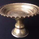 Antique Brass Pedestal Bowl