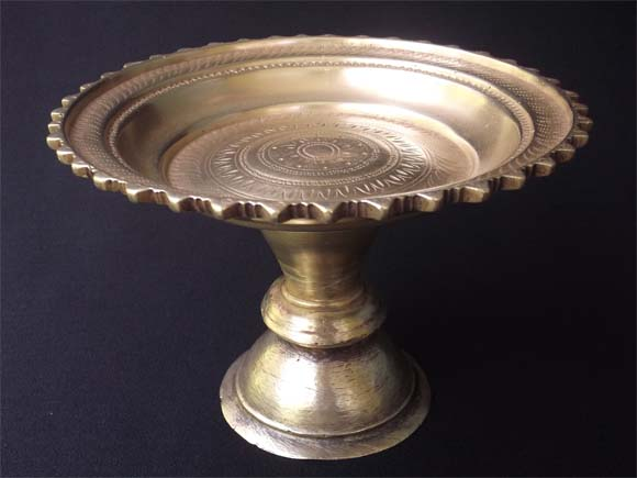 Antique Brass Pedestal Bowl