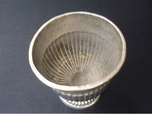 White metal Sandalwood paste bowl