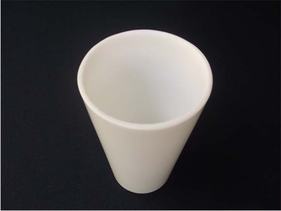 Vintage Milk Glass Tumbler- Angle view
