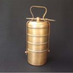 Vintage Brass 5-Tier Tiffin box carrier