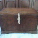 Vintage Burma Teak Wood Trunk Box