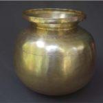 Antique brass milk pot