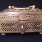 Antique Brass Vanity Box
