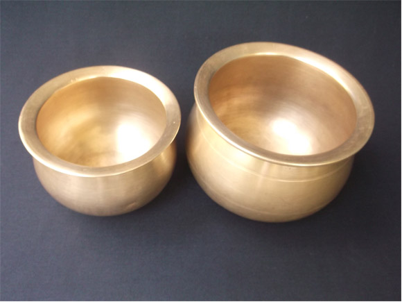 Andhra Antique Brass curry pots called KooraGinni
