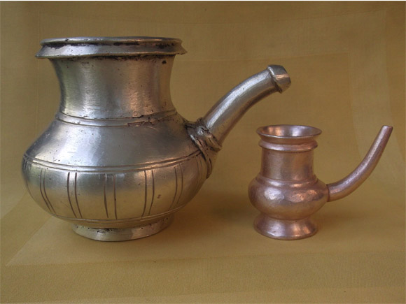 Antique Brass Kindi: Lota With A Spout
