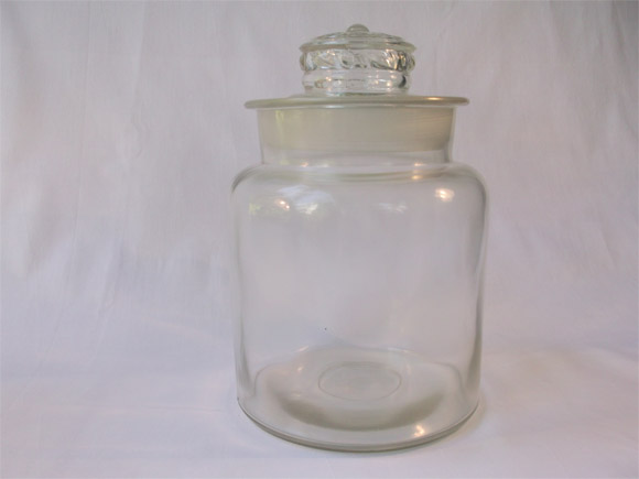 Antique Glass Jar With Lid