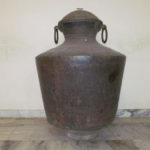 Kindaram, the huge brass water storage pot on pedestal