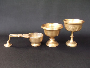 Antique Brass Massage Oil Cups