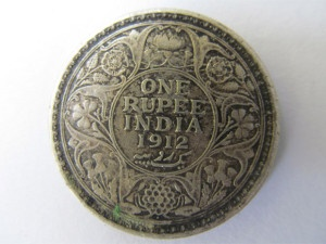 1912 year coin with black toning