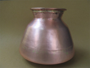 Antique Maharashtra Copper vessel for storage of water, it Can store water sufficient for 5 days