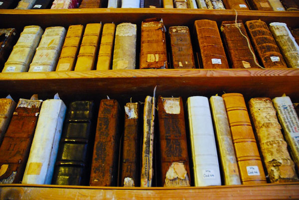 Antique old library books