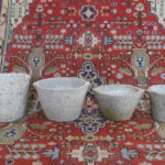 of beautifully shaped antique Granit storage pots