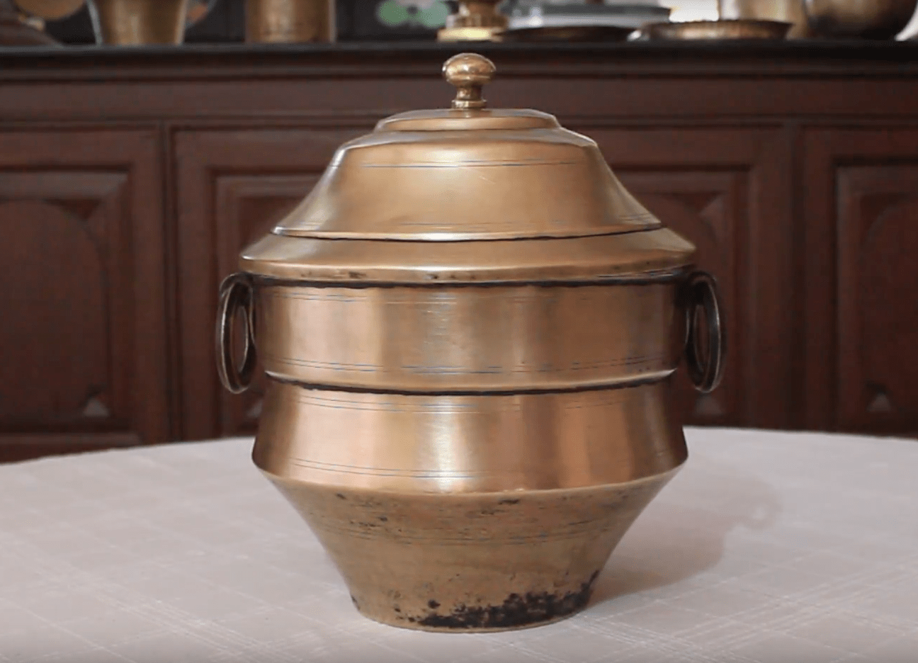 Antique Brass Idli Steamer (Idli Patra)